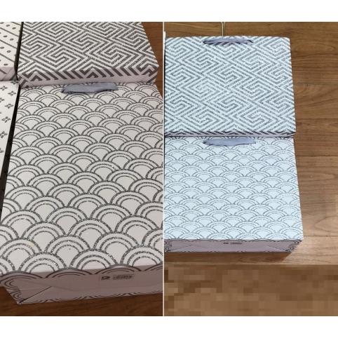 Подарочный пакет 7483XL (240шт) Серебро 40*55*15 см, 2 видацена за шт рис. 1