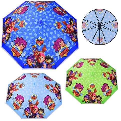 Зонт детский UM523 (60шт5) зеленый, синий, голубой, р-р трости – 66 см, диаметр в раскрытом виде – рис. 1