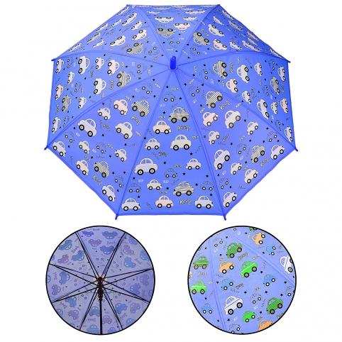 Зонт детский UM522 (60шт5) машинки, при намокании проявляется цвет, р-р трости – 66 см, диаметр в р рис. 1