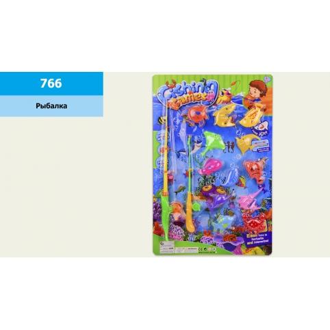 Рыбалка 766 (72шт2)2 магн.удочка,рыбки,на планшетке 38*57,5 см рис. 1