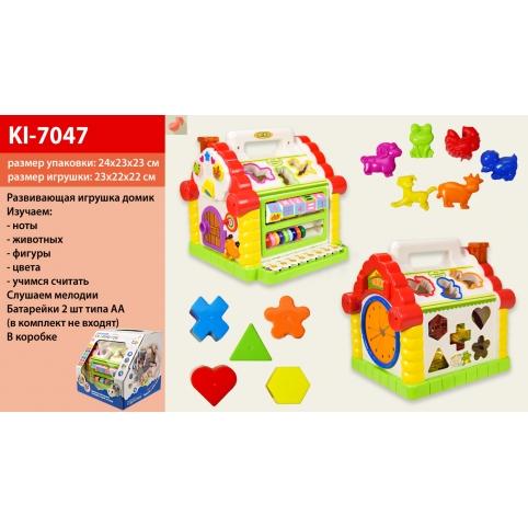 """Муз разв.""""Будинок"""" KI-7047 (12шт2) батар., муз., в коробке 24*23*23см рис. 1"""