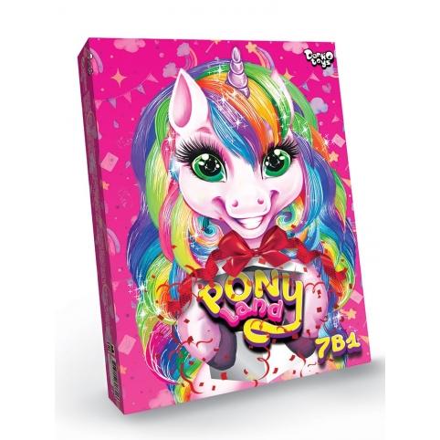 """Креативна творчість """"Pony Land 7 в 1"""" укр (5) рис. 1"""