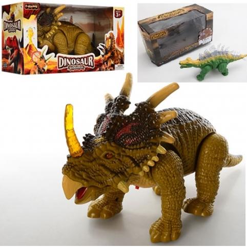 Интерактивное животные138384 (1741150-51) (48шт2)Динозавр,2вида,звук,свет,в коробке 27*12*15см рис. 1