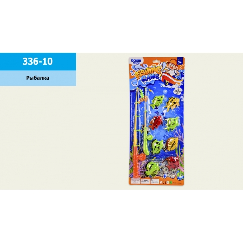 Рыбалка 336-10 (144шт2) 2 магнит.удочки, 8 морских животных, на планшетке 25*57см, р-р удочки – 41 рис. 1