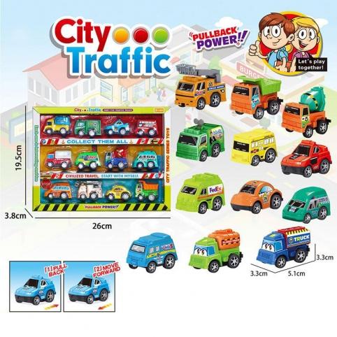 Набор транспорта инерц. City Traffic DYB168-279(72шт2)12машинок в комплекте, в кор. 19,5*26*3,8см рис. 1