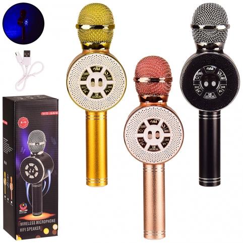 Микрофон-караоке M155 (50шт) 3 цвета, в кор. 8.5*7.5*27 см, р-р игрушки – 8*6*24.5 см рис. 1