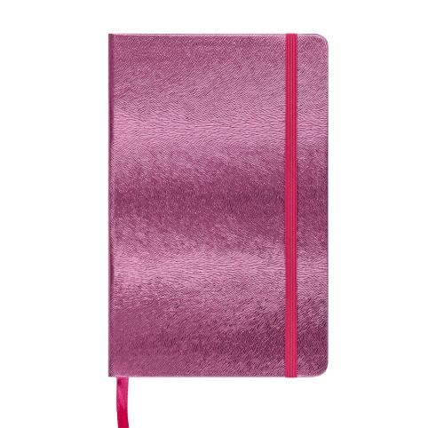 Блокнот діловий INGOT 125x195мм, 80арк., клітинка, обкладинка зі штучної шкіри, рожевий рис. 1