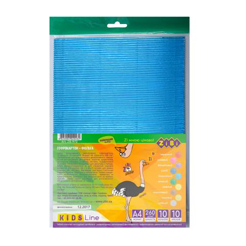 Гофрокартон фольгований А4, 10 кольорів, 10 аркушів рис. 1