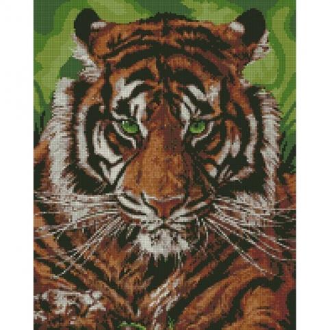 """Набір з алмазною мозаїкою """"Непереможний тигр"""" 40*50см рис. 1"""