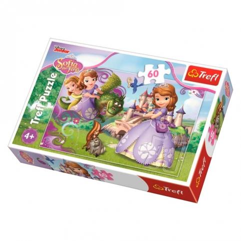 """Пазли - (60 елм.) - """"Пригоди принцеси Софії""""  Дісней: """"Софія Прекрасна""""Trefl рис. 1"""