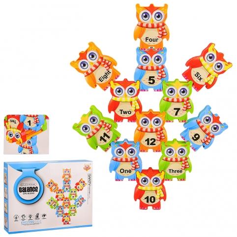 """Игровой набор """"Балансирующие блоки"""" S239 (72шт2) 12 блоков, изучение порядкового счета ,в кор. 23*4 рис. 1"""