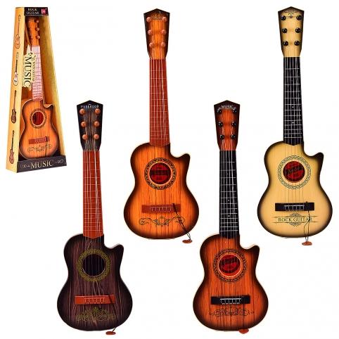 Гитара 180C11121314 (24шт2)4 вида,с медиатором,р-р игрушки -18*6,5*55 см, в коробке 22*8*60 см рис. 1