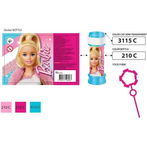 Мыльные пузыри KC-0074 (216 шт)Barbie цена за 1шт, по 36 шт в коробке, 60 мл, р-р упаковки – 23.5*24 рис. 1