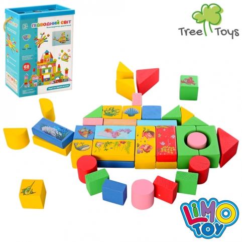 Деревянная игрушка Городок MD 0657 (24шт) 68дет, в кор-ке, 28,5-21-9см рис. 1