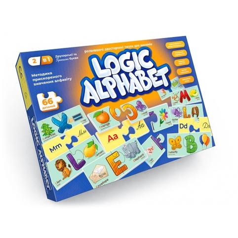 """Пазли-асоціації, що розвивають """"Logic Alphabet"""" англ/укр (12) рис. 1"""