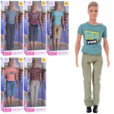 Кукла DEFA 8372 (48шт) Кен, 31см, 6видов, в кор-ке, 12,5-32,5-5,5см рис. 1