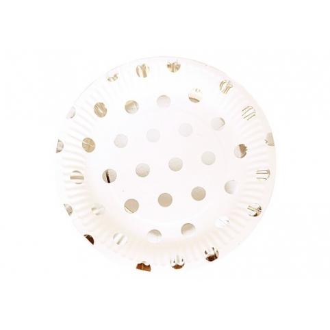 Тарілки одноразові з фольгою, 10 шт.в пач. 18,5 см, 250 грам рис. 1