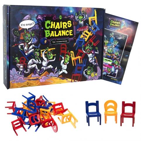 """Настільна гра """"Chairs balance"""" (укр), в кор. Стратег /11/ рис. 1"""