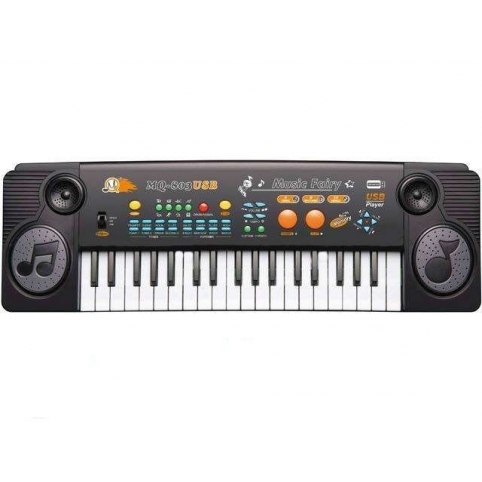 Детский синтезатор с микрофоном 37 клавиш MQ-803USB