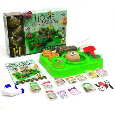 """HOME FLORARIUM"""" освітній набір для вирощування рослин Danko Toys (HFL-01-01U)"""
