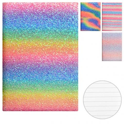 """Блокнот с блестками """"Радуга"""" А5 ST01753 (100шт) рис. 1"""