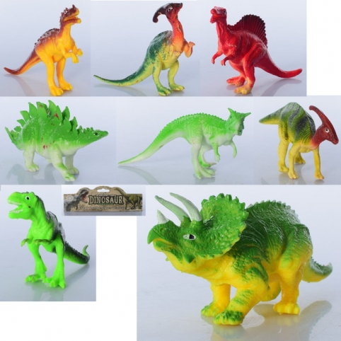 Фігурка 565-2 динозавр, 8 шт., від 14 см., кул., 23-28-9 см.