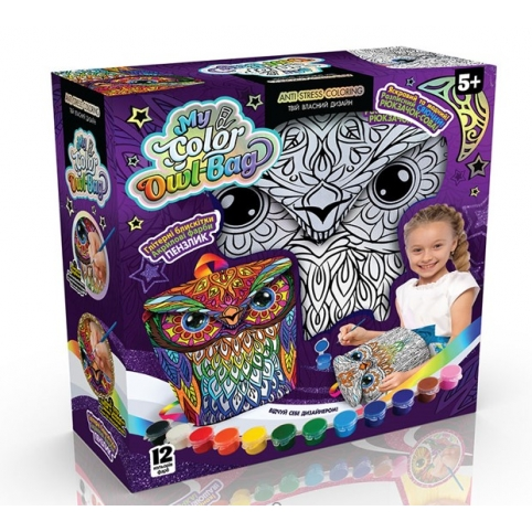 """Креативна творчість """"My Color Owl-Bag"""" рюкзачок-сова укр (4) рис. 1"""
