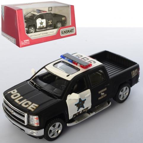 Машинка KT 5381 WP (24шт) металл, инер-я, полиция12см,открыв. двери,резин.колеса,в кор-ке,16-7,5-8см рис. 1