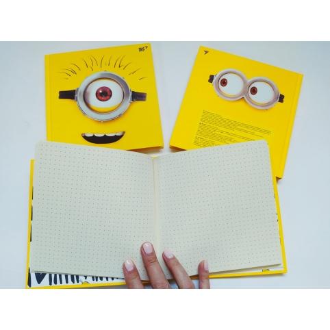 """Блокнот """"Minions"""" YES, 15*15см, 64 листа, бумага 70 гр/м2, обложка полутвердая (151531)"""