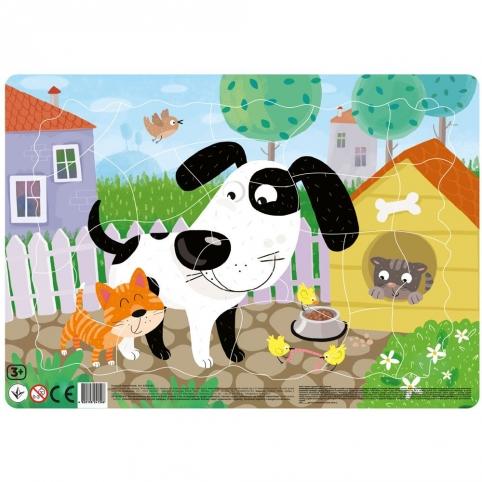 Песик. Картонний пазл з рамкою (Dodo R300182) рис. 0