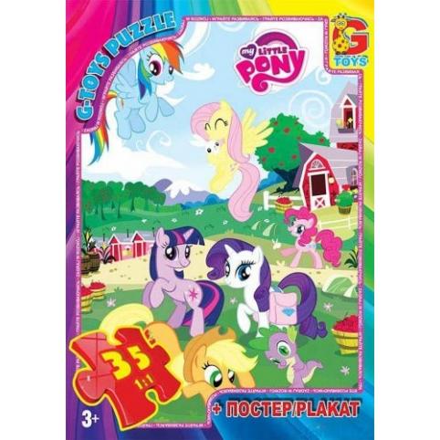 Пазл G-toys My Little Pony: ферма 35 эл MLP011