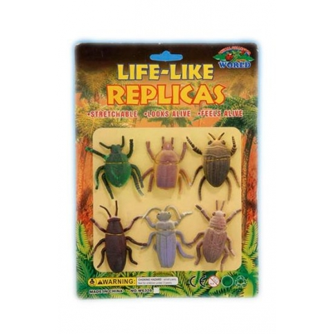 Животные резиновые W6328-144/143 жуки и насекомые
