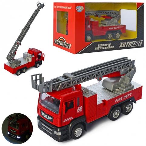 Пожежна машина AS-2669  АвтоСвіт, мет., інерц., муз., світло, бат.-таб., кор., 22-12-9 см. рис. 1