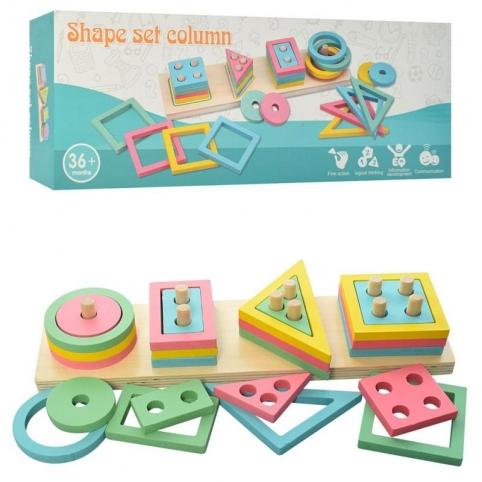 "Деревянная игрушка Fun Toys ""Геометрика"", 32 детали, (MD2066)"