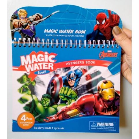 Багаторазова водна розмальовка -блокнот Супергерої
