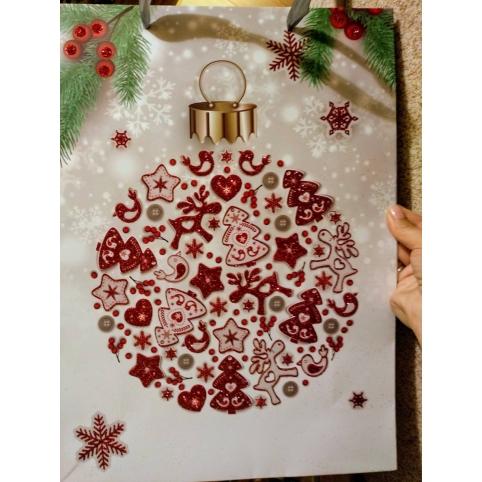 """Великий паперовий подарунковий пакет """"Christmas Toy"""""""