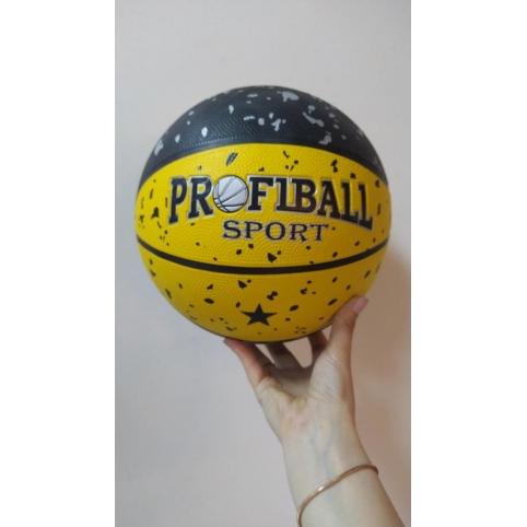 Мяч баскетбольный VA 0057 (30шт) размер7, резина, 12панелей, 3цвета, 580-600г, в кульке рис. 1