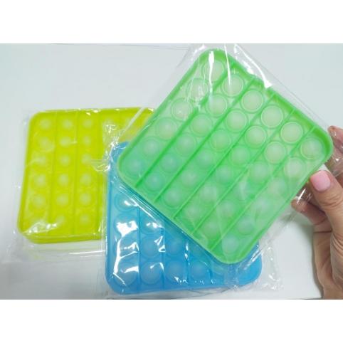 """Антистресс FP1960 (100 шт)""""Pop it"""" , квадратный, в пакете 12,5см меняют цвет рис. 1"""