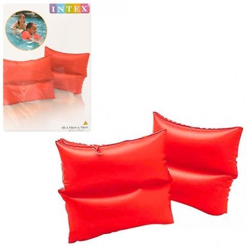 Нарукавник 59640 (72шт) красный, 19-19см, 3-6лет, винил, 2шт в кульке, 16-25-1см рис. 1