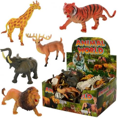 Животные Y13  дикие,6 видов,24шт. в диспл