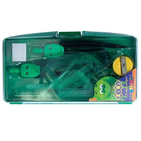 Готовальня SMART 9 предметів, зелений рис. 1