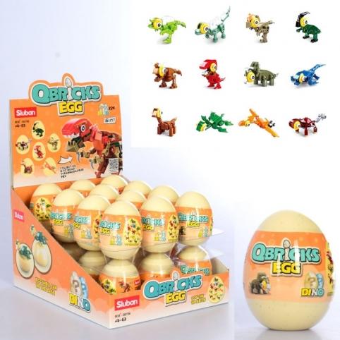 """Конструктор SLUBAN M38-B0796 """"Qbricks egg"""": Динозавр в яйці"""