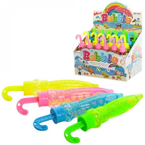 Мильні бульбашки 1010 колба, парасолька, 24 шт. (4 кольори) в диспл., 19,5-13,5-15 см. рис. 1