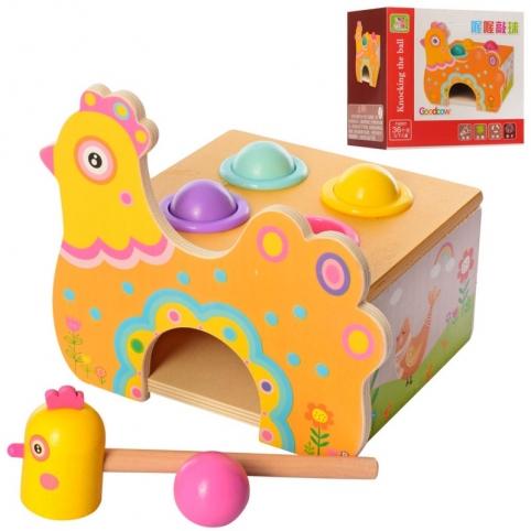Дерев'яна іграшка Стукачка курочка (MD 2458)