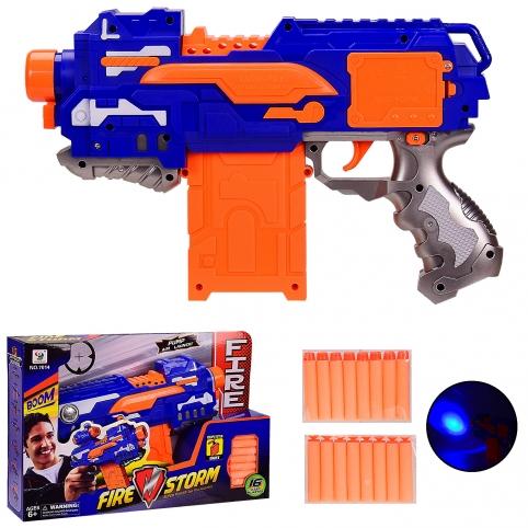 Бластер с поролоновыми снарядами  в открытой коробке (7014)