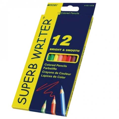 """Олівці 12 кольорів шестигранні, Superb Writer,4100-12CB,TM""""Marco"""" рис. 1"""