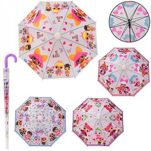 Зонт детский UM5263 (60шт|5) 4 вида, 70 см, в комплекте складной пластиковый