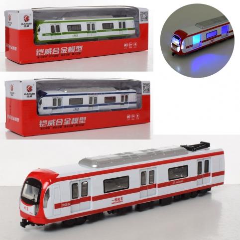Поезд MS1525N (24шт) металл, инер-й, 22см, зв,св,открыв.двери,3цв, бат(таб), в кор-ке, 2-8,5-7,5см рис. 1