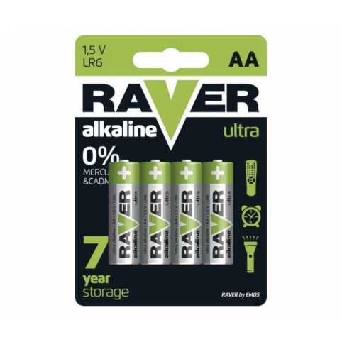 Батарейка RAVER  В7921 Ultra Alkaline (AA) LR06 блістер 4 шт.