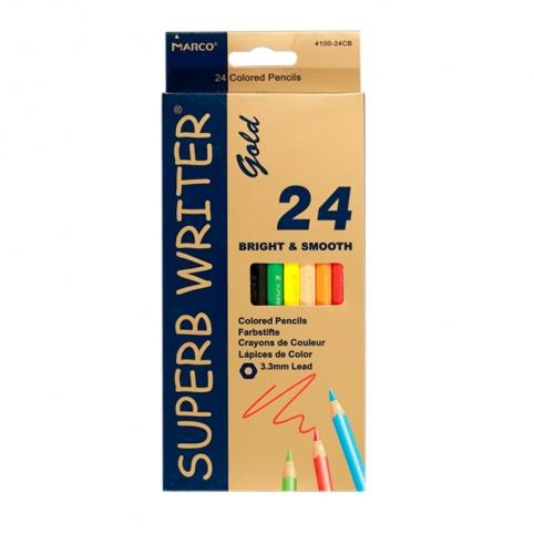 "Олівці 24 кольори шестигранні, Superb Writer Gold,E4100G-24CB,TM""Marco"" рис. 1"
